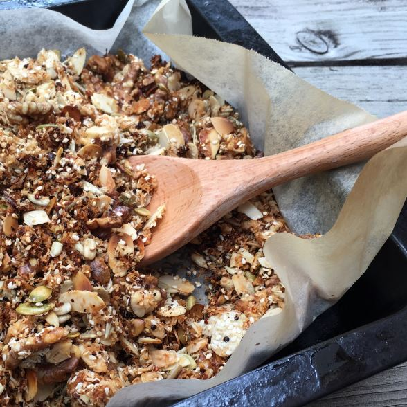 A bowl of gluten free granola